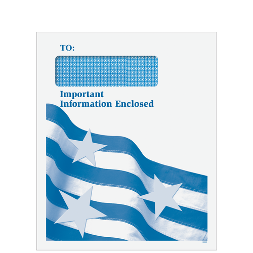 CLNT9D10 - Important Information Window Patriotic Mailing Envelope