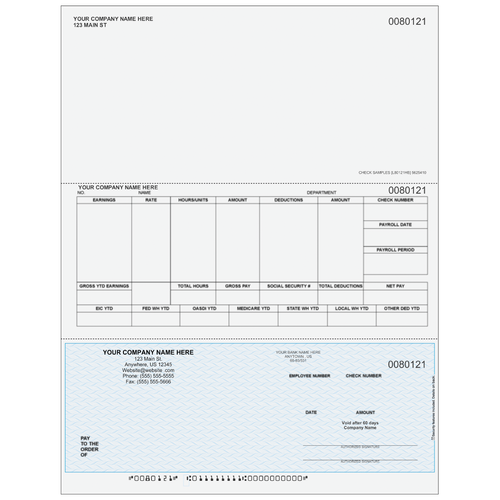 L80121 - Payroll Bottom Check