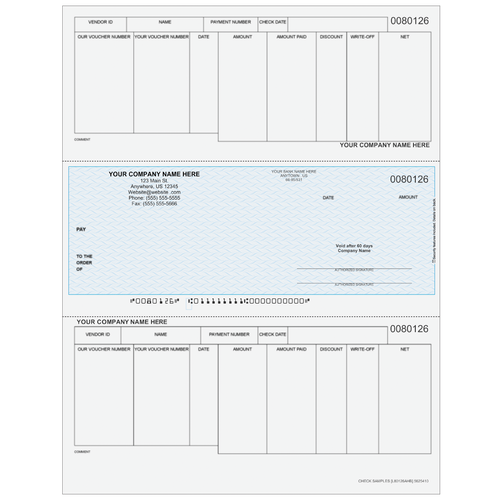 L80126A - Accounts Payable Middle Business Check