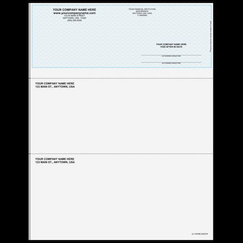 L1143 - Multi-Purpose Top Business Check