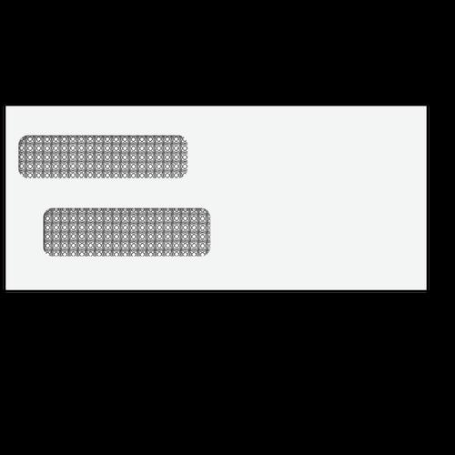 80611 - #9 Reverse Flap Double Window Envelope