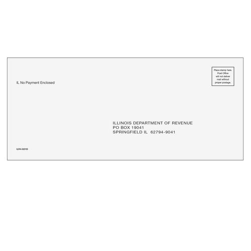 ILR410 - IL Refund/E-File Envelope