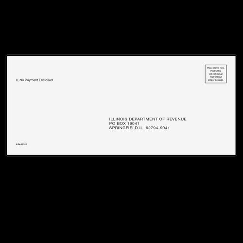 ILR410 - Illinois Refund/E-File Envelope