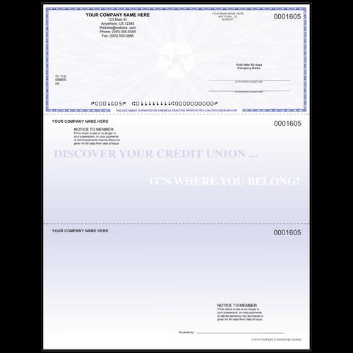 L1605N - Multi-Purpose Top Business Check