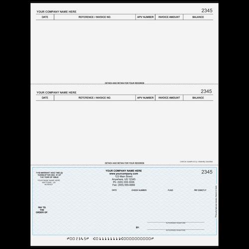 L1594! - Accounts Payable Bottom Business Check