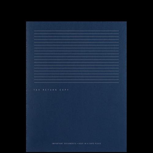 FL52X - Tax Return Copy Side Staple Folder with Horizontal Stripes