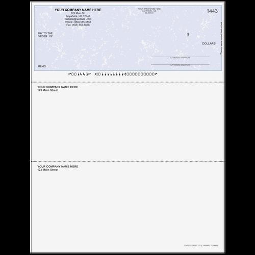 L1443 - Multi-Purpose Top Business Check