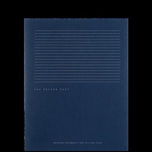 PT54XX - Tax Return Copy Portfolio with Horizontal Stripe Design (Two-Pocket)
