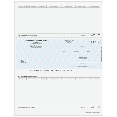 L1166 - Accounts Payable Middle Business Check