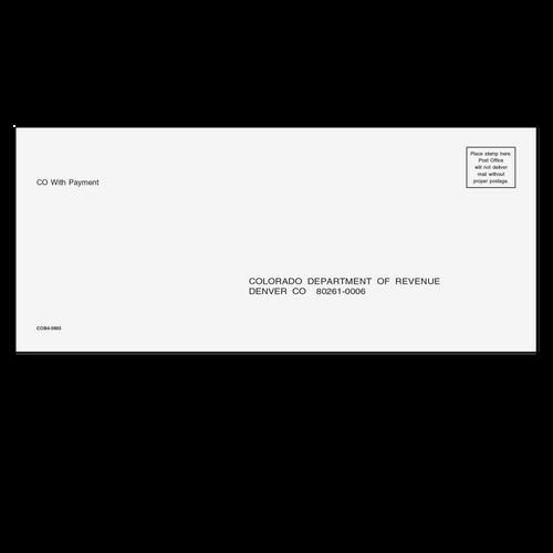 COB410 - Colorado Balance Due Envelope