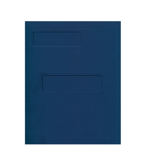 807XX - Debossed Folder with Offset Windows