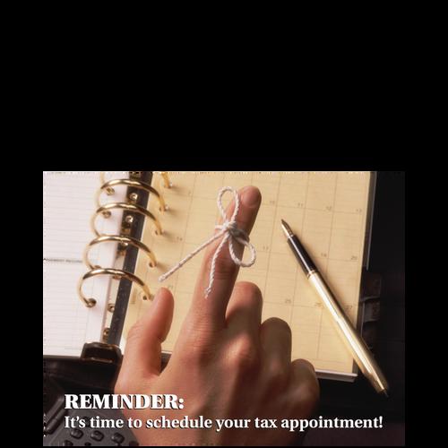 5092 - Tax Appointment Reminder Postcard