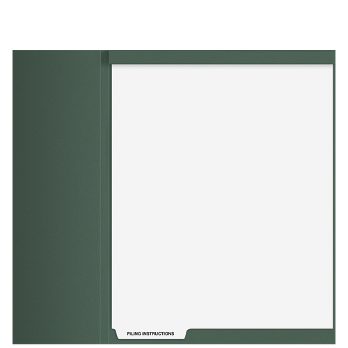 TB101T - 'Filing Instructions' Top Staple Index Tab Divider