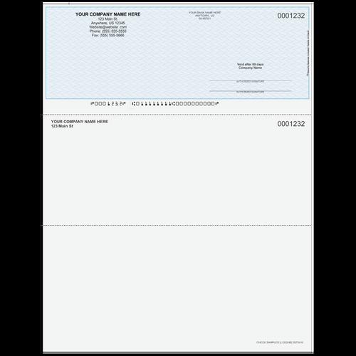 L1232 - Multi-Purpose Top Business Check