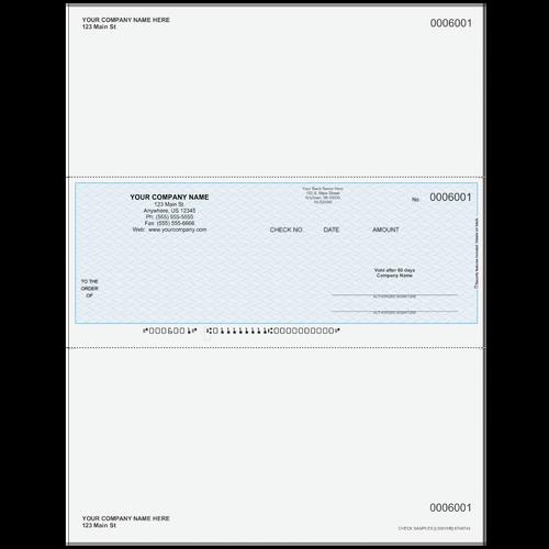 L6001 - Multi-Purpose Middle Business Check