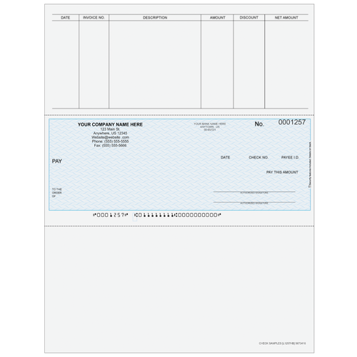 L1257 - Accounts Payable Middle Business Check