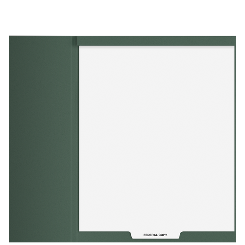 TB102T - 'Federal Copy' Top-Staple Index Tab Divider