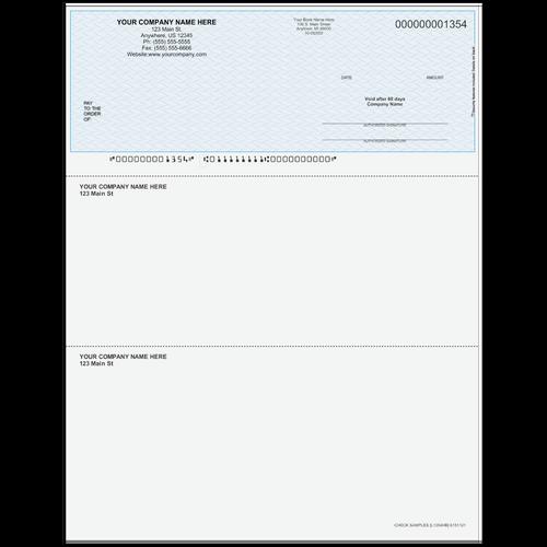 L1354 - Multi-Purpose Top Business Check