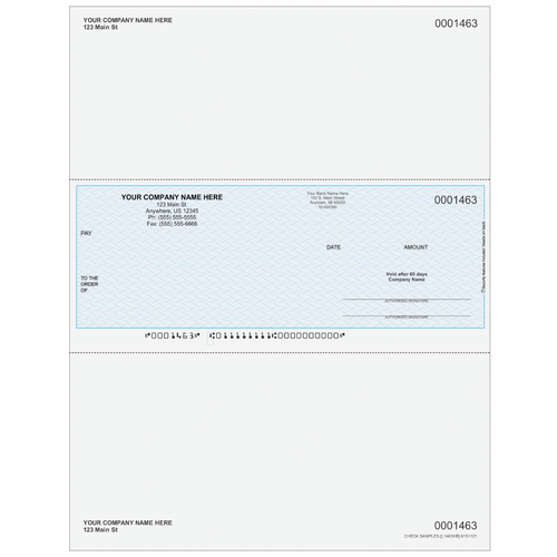L1463 - Multi-Purpose Middle Business Check