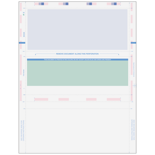 80348 - Pressure Seal Z-Fold Blank Check with Flat Background