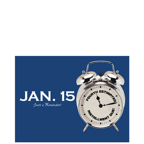PC51 - Tax Estimate Reminder Postcard - Jan 15
