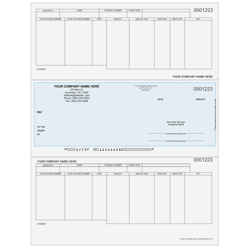 L1223 - Accounts Payable Middle Business Check