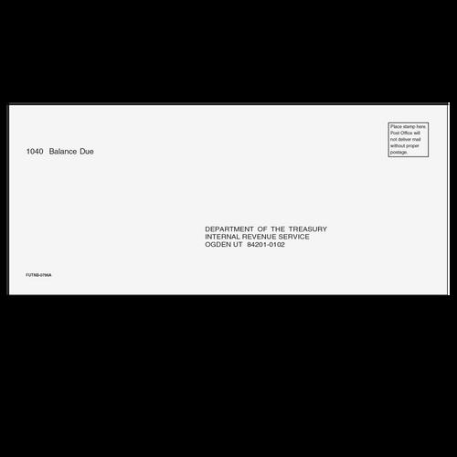 FUTNB10 - 1040 Balance Due Envelope - Ogden, UT