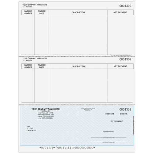 L1302 - Accounts Payable Bottom Check