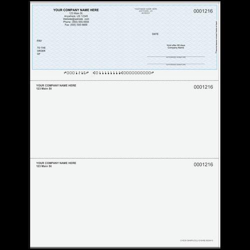 L1216 - Multi-Purpose Top Business Check