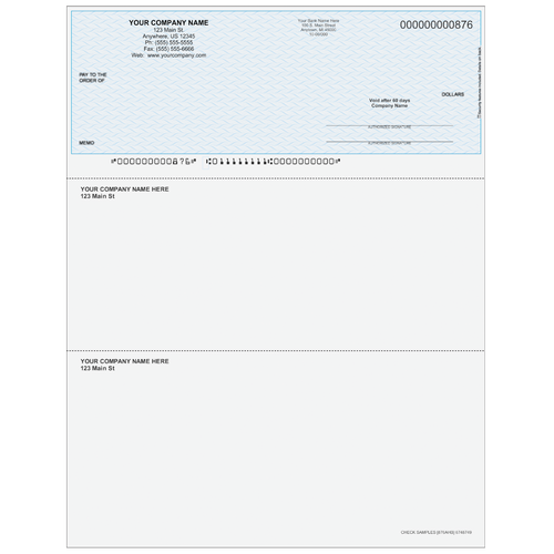 876A - Multi-Purpose Top Business Check