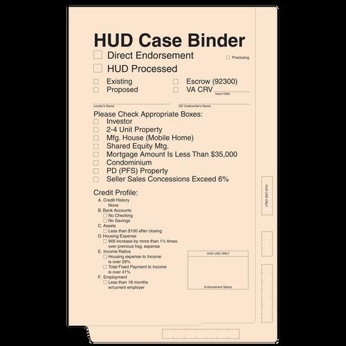 4213 - Hud Case Binder - Manila