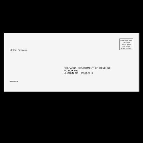 NEEST10 - NE Estimate Envelope 3 7/8 x 8 7/8