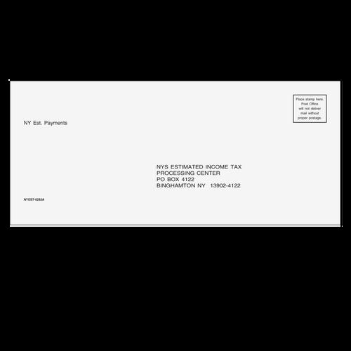 NYEST10 - NY Estimate Envelope 3 7/8 x 8 7/8