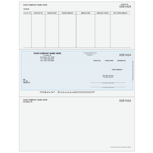 L81424 - Accounts Payable Middle Business Check