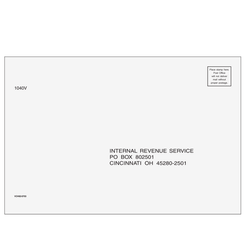 VOH6210 - 1040-V Envelope - Cincinnati, OH 6 x 9