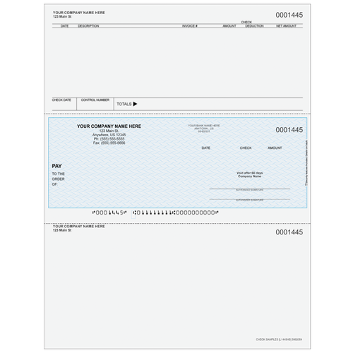 L1445 - Accounts Payable Middle Business Check