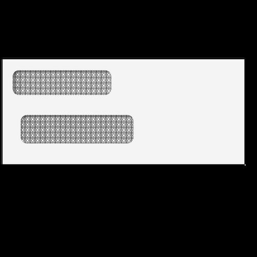 "E938 - Double Window Envelope - Moisture Seal - 3 3/4"" x 8 5/8"""