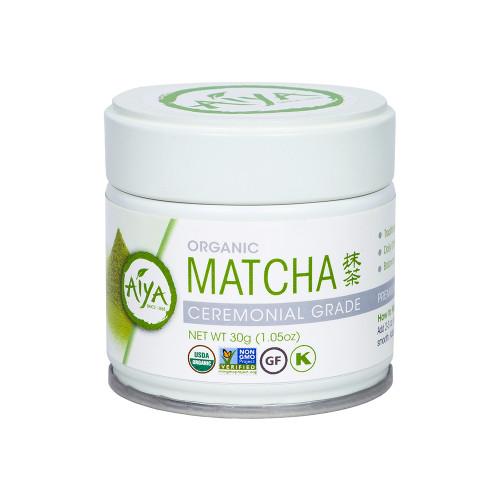 Organic Ceremonial Matcha Tea Powder, 30 gram, single tin