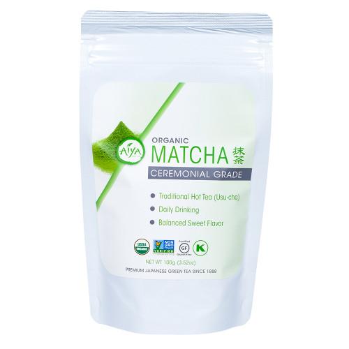 Organic Ceremonial Matcha tea, 100 gram, single bag