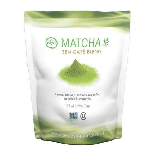 Matcha Zen Café Blend, sweetened matcha, 1 kilogram, single bag