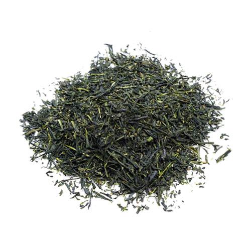 Premium Japanese Gyokuro, loose tea leaves in a mound