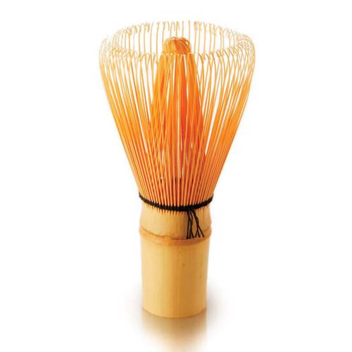 Matcha whisk, upright, made of bamboo