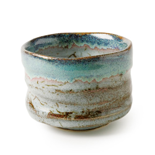 Matcha bowl, with dark indigo hue