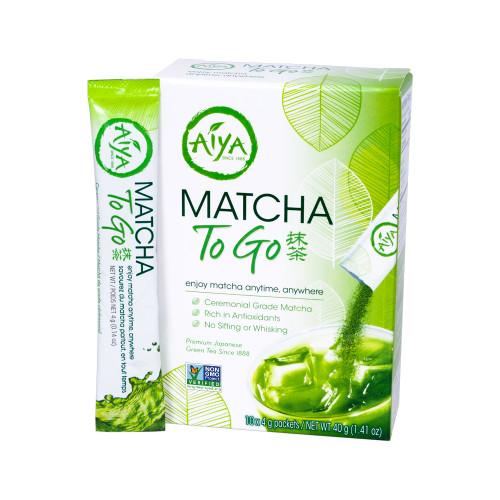 Matcha To Go Retail Box, 10 unsweetened matcha stick packs per box