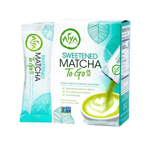 Sweetened Matcha To Go Retail Box (8 packets per box)