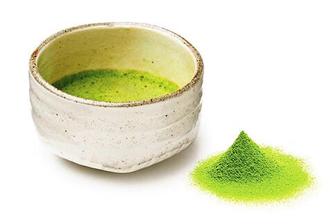 Figure 1 Ceremonial Matcha tea in white bowl