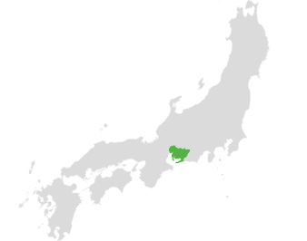 Figure 3 A small map of Japan, with Aiya's birthplace highlighted: Nishio, Aichi Prefecture