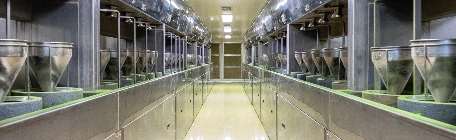 Header Image: Grinding machines at Aiya's processing facility in Nishio, Japan