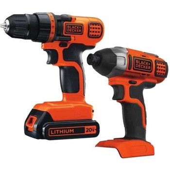 Black & Decker 20V MAX Drill/Driver + Impact Combo Kit