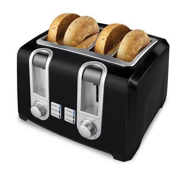 BD 4 Slice Toaster 4 Slot Blk